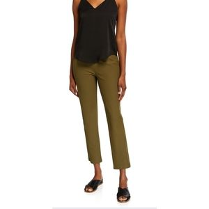 Eileen Fisher Olive Green STRETCH CREPE SLIM ANKLE